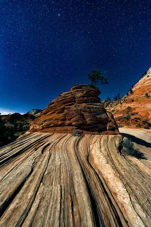 Stars over Pinon Rock