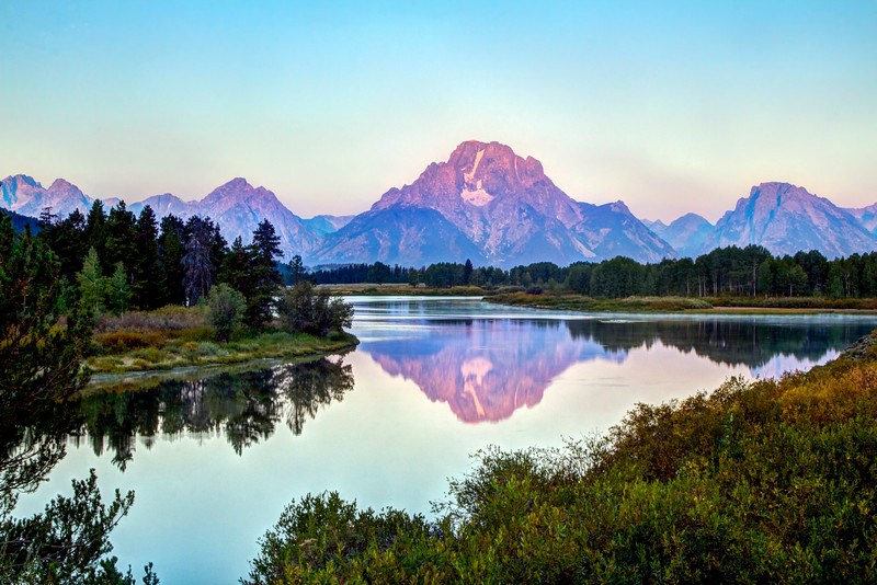 Oxbow bend in the Grand Teton National Park
