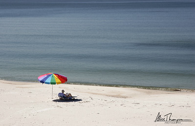 Rainbow Umbrella - Mexico Beach, FL