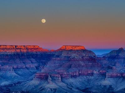 Grand Canyon Moonrise, February