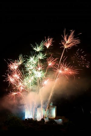 Fireworks at Chateau de Bonaguil, SW France