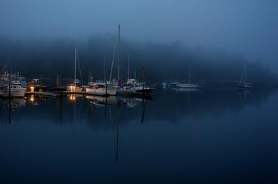 Evening Fog 4 - Northeast Harbor, Mount Desert Isle, Maine, October 2007; Canon 40D