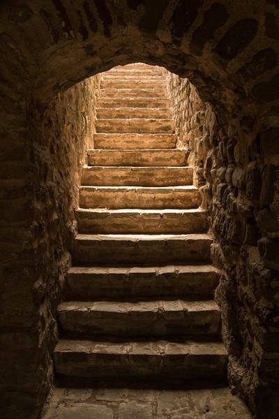 A stairway in Rohtas Fort, near Jhelum