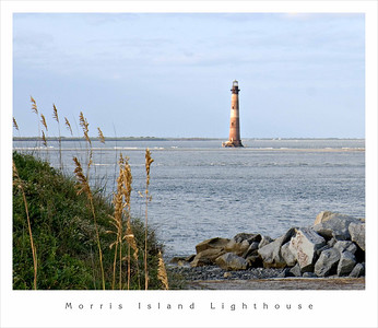 Morris Island Lighthouse View from the Coast Guard Station