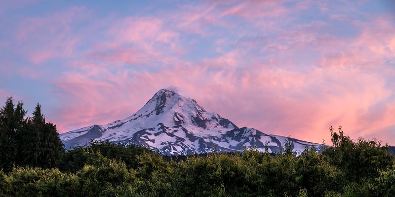 Mount Hood on fire
