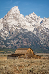 John Moulton Barn in Grand Teton National Park is known as the most photographed barn in the United States.
