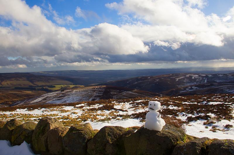 Snowman at Cairn Na Mount. Aberdeenshire. John Chapman.