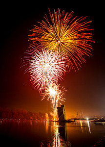 Fireworks above Loch