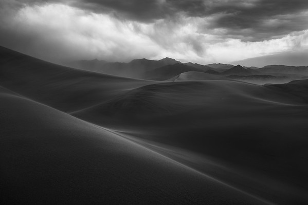 on the edge of a sandstorm