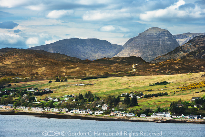 Photo 2079 Loch Carron & Lochcarron village, Wester Ross, Scotland