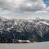 We had an amazing panorama from the top. - mountains in all diretions.