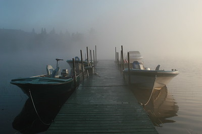 Early morning on the dock - Dawson Lake, Quebec, August 2006; Canon 30D