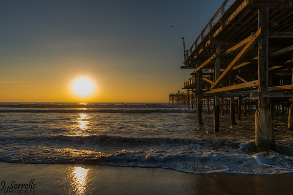 Surf City Pier at Sunset