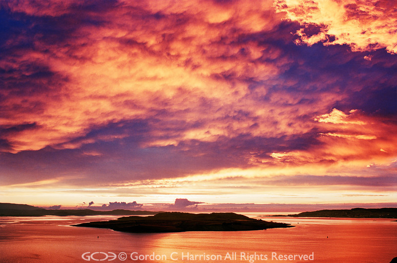 Photo 4028 Loch Ewe sunset, Wester Ross, Scotland