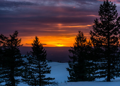 Bogus Basin Sunset