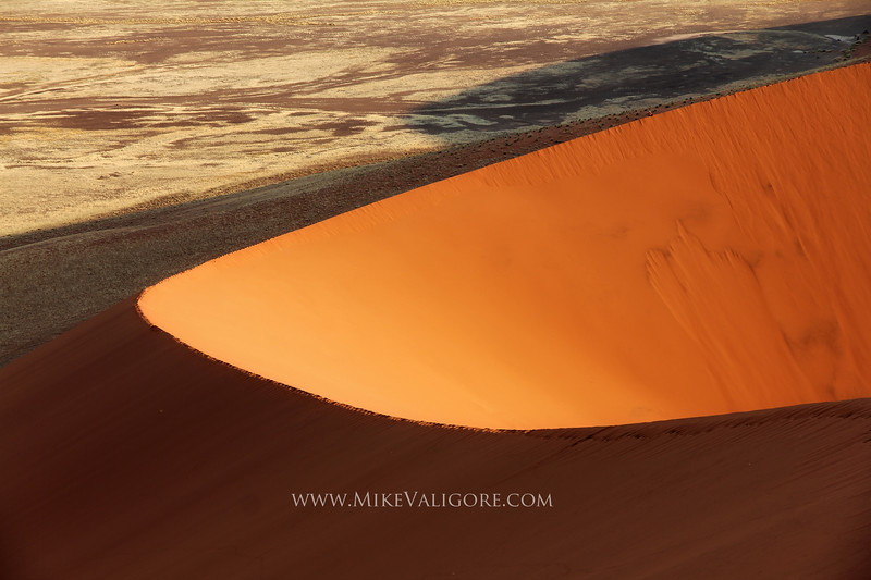 Dune 45<br /> <br /> The sand dunes of the Namibian desert are impressive anytime of day for their scope and scale.  But it is in the late afternoons and early mornings when are most beautiful.