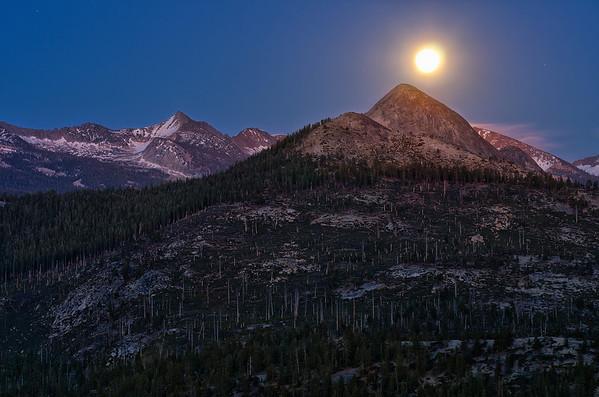 Moonrise Over Mt. Star King