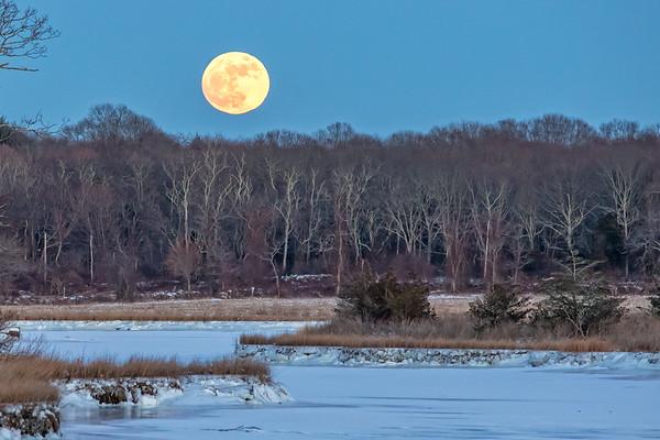 Full Moon at Salt Water Farm