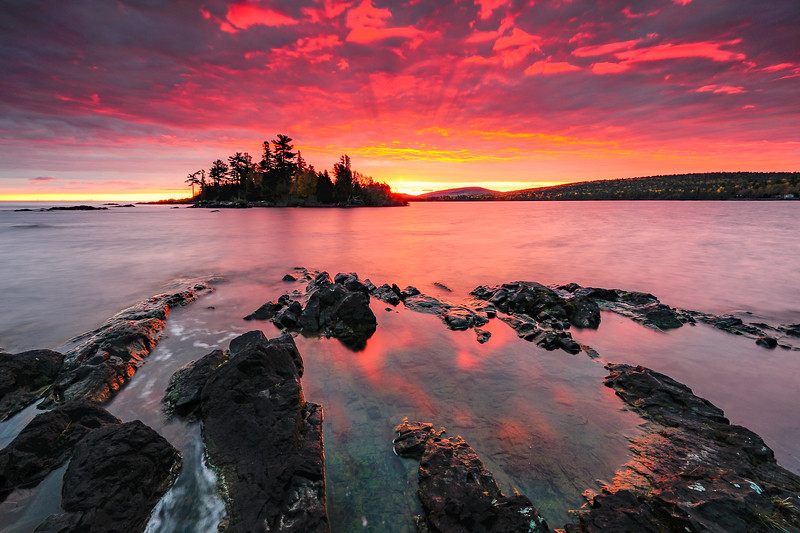 Sunrise over Copper Harbor 01
