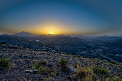 Dusty Sunset in the Davis Mountains