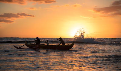 Sunset Outrigger Action