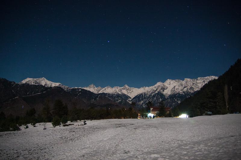 A winter night in Shogran, Kaghan