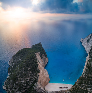 "Sunset at Navagio ""Shipwreck"" beach"