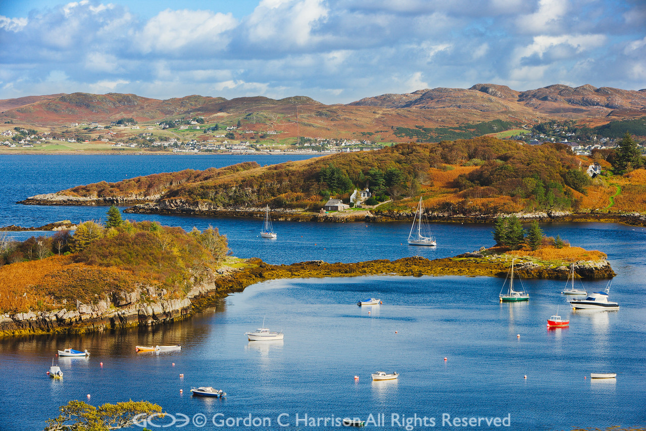 Photo 2113: View from Badachro to Gairloch, Wester Ross