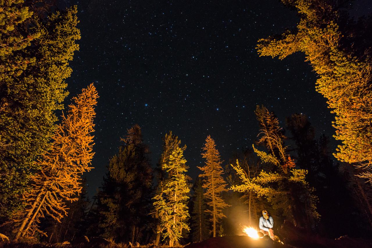 Solitude and stars, near Teapot Dome