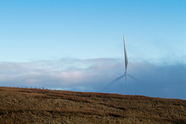 Wind Turbine through Fog