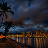 Nightscape of Downtown Waikiki