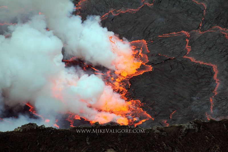 Lava<br /> <br /> A closer detail of the geothermic action from the rim of Nyiragongo Volcano in Virunga National Park.