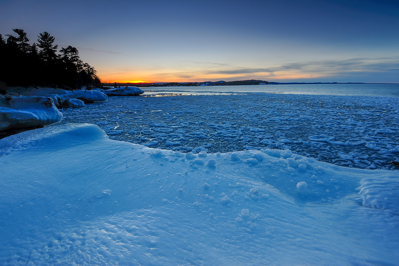 Evening Blue Hour on Presque Isle