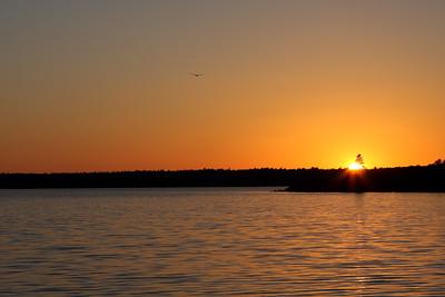 Sunset - Western Bay, Mount Desert Isle, Maine, October 2007; Canon 40D