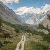 Mashebrum rises over the jeep track to Hushe, Baltistan