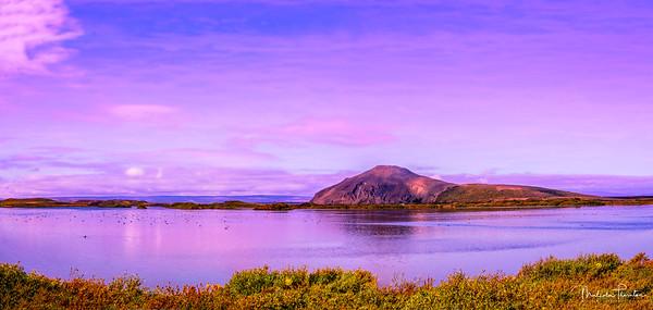 Vindbelgjarfjall at Lake Mývatn