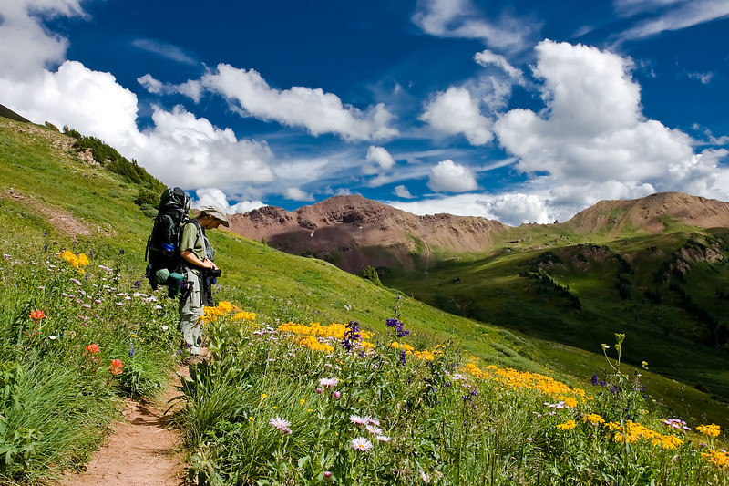 Between Frigid Air Pass and West Maroon Pass, Maroon Bell-Snowmass Wilderness, Colorado