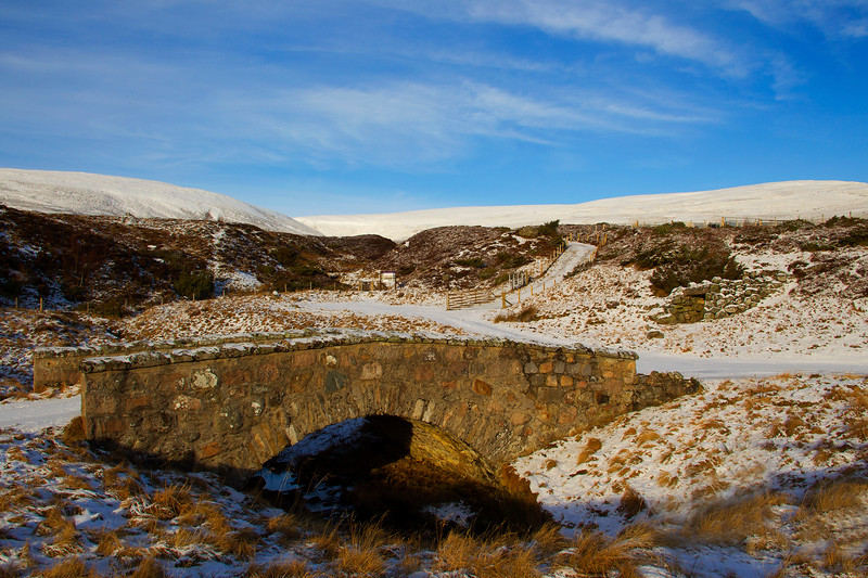 The Old Road Bridge. Glen Gairn. John Chapman.