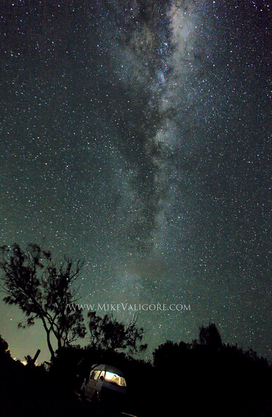 Van and Cosmos<br /> <br /> The Australian night skies at Brooms Head offer some of the best opportunities to view the Milky Way with the naked eye.