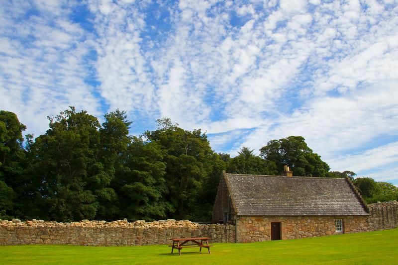 Cottage at Tolquhon Castle.  John Chapman.