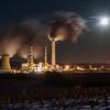 Supermoon over Montour Power Plant