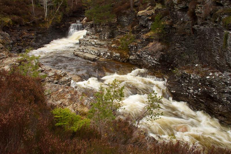 Waterfall in Aberdeenshire. John Chapman.