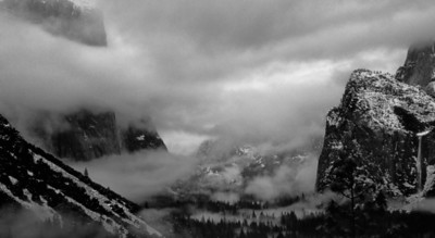 Yosemite Shrouded In A Winter Storm