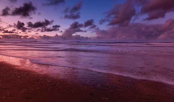 Falcarragh Beach at sunset. County Donegal, Ireland.  Shot with Singh-Ray Gold-N-Blue Polarizing filter.