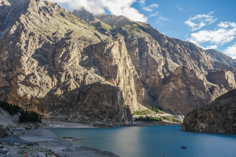 A new tunnel and bridge on the Karakoram Highway at Attabad Lake, Gojal, Gilgit Baltistan
