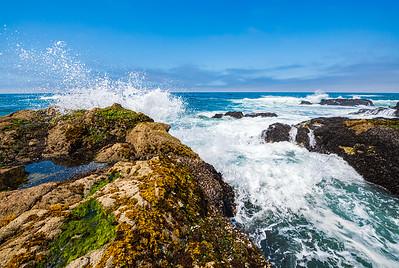 Ocean waves at Bodega Head