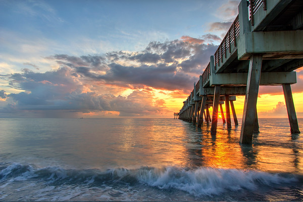 August Image - sunrise @ juno beach.