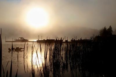 Sunrise Over Dawson - Dawson Lake, Quebec, August 2006; Canon 30D