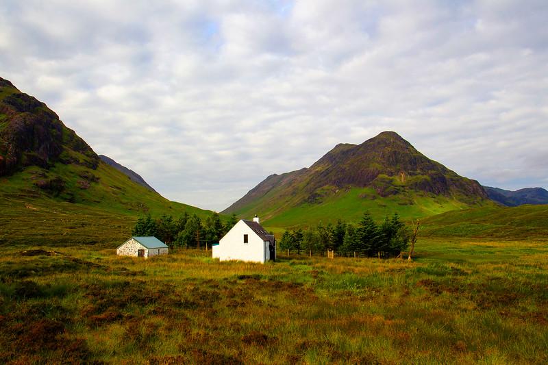 Cottage beside Buachaille Etive Begg. Glencoe. John Chapman.
