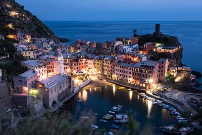 Vernazza, Cinque Terre at night.